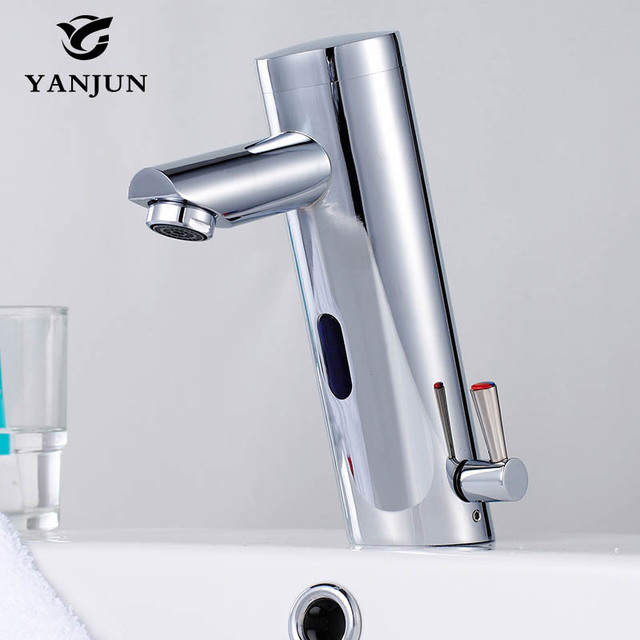 Bathroom Faucet Touch Free Sensor Automatic Basin Mixer Shut Off Hot And Cold