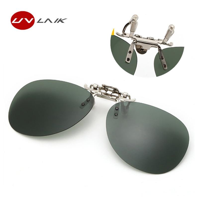 UVLAIK Pilot Polarisierte Clip Auf Sonnenbrillen Männer Frauen Nachtsicht  Brille Gläser Gelb Klassische Rahmenlose Sonnenbrille 37a7d9f4b5