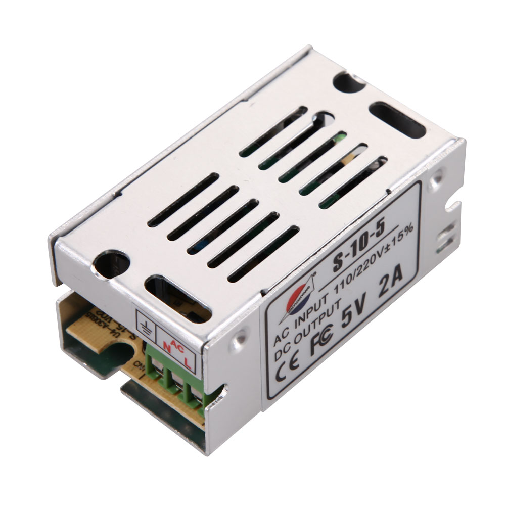 Input AC110-220V 50/60Hz Output DC 5V 2A 6A Switching power supply Driver Transformers For LED Light Strip High Performance 1200w 48v adjustable 220v input single output switching power supply for led strip light ac to dc