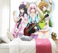 [Self Adhesive] 3D Super Sonico Guitar Girl Team 33 Japan Anime Wall Paper mural Wall Print Decal Wall Murals