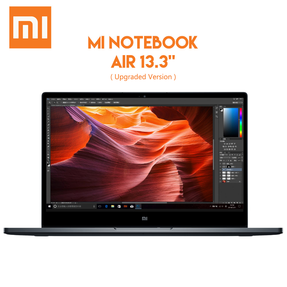 цена Original Xiaomi Mi Notebook Air 13.3 Windows 10 Intel Core i7 - 8550U Quad Core Laptop 8GB RAM 256GB SSD Fingerprint