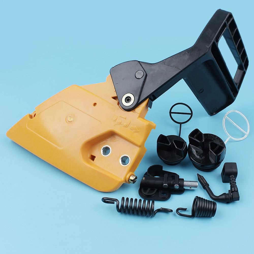 Chain Brake Handle Side Clutch Cover Oil Pump AV Spring Fuel Oil Cap Kit For Partner 350 351 Chainsaw Isolator Shock Mount цена