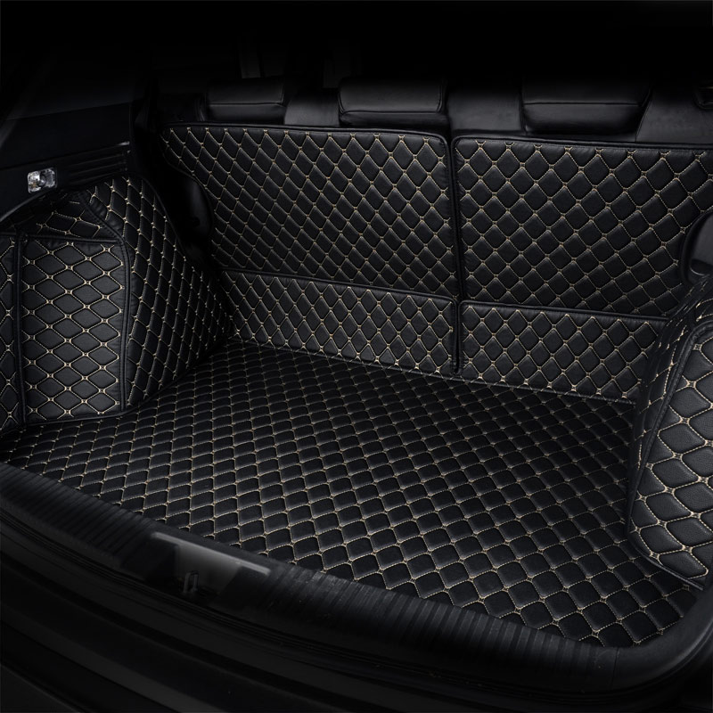For Audi RS6 Estate 2008-2010 Fully Tailored Black Rubber Car Boot Mat