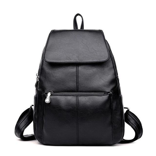 10f0d2c30254 Women Backpacks Fashion Causal School Travel Bags High Quality Rucksack Female  Shoulder Bag PU Leather Backpacks For Girls