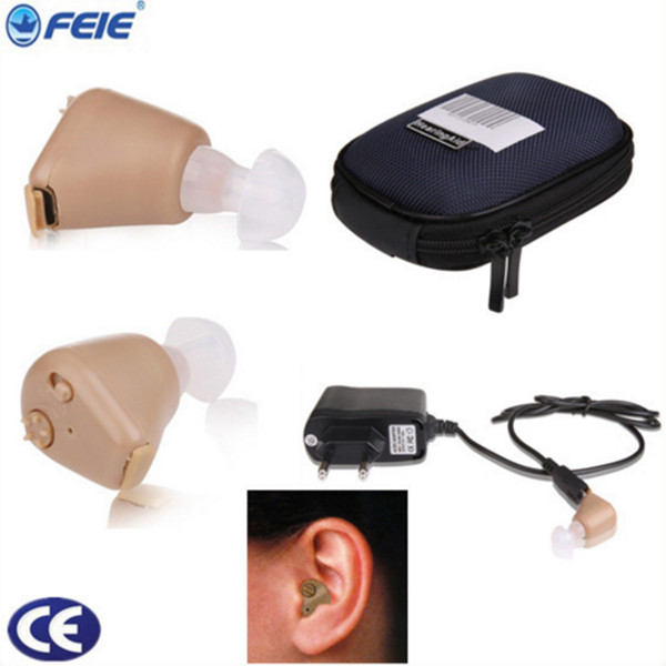 Invisible Hearing Aid Original Brand Mini Audiphone ITE Hearing aids Deaf-aid Acousticon Sound Amplifier Ear Care S-216 dropship new rechareable mini invisible ite k 88