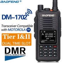 2020 baofeng dmr DM 1702 (gps) トランシーバートランシーバー vhf 帯、 uhf デュアルバンドデュアル時間スロット一層 1 & 2 デジタル/アナログハム cb ラジオ hf 受信機