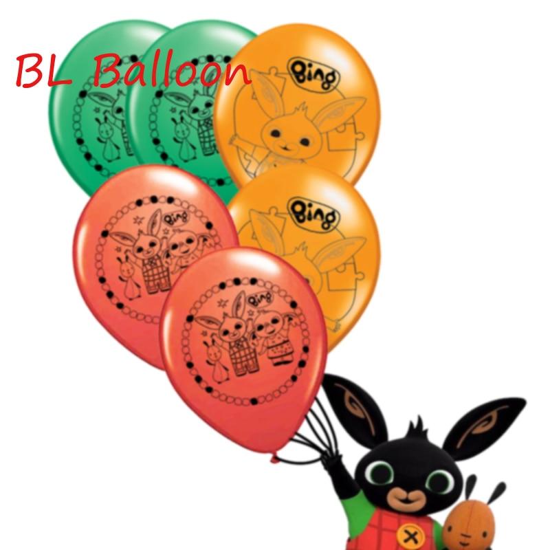 red and black Latex Balloons x 6 Bing Orange