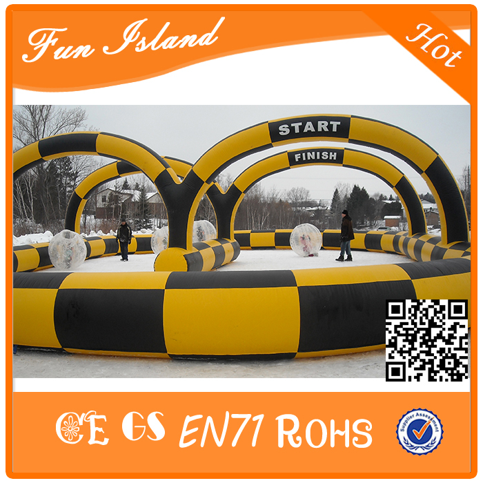 Inflatable Zorb Ball Racing Track, Inflatable Race Track Sport Games For Sale sea shipping inflatable car or bicycle go race track inflatable race track for sale