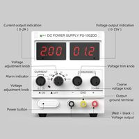NEW BEST 1502DD Mobile Phone Repair DC Adjustable Power Supply Voltage Regulator Regulated Power Supply 0 15V 2A 220V