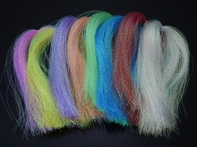"Dyed-Pearl Flashabou Accent Fly Tying Materials;Available in 8 Colors, 1/69"" Wide By 12"" Long."
