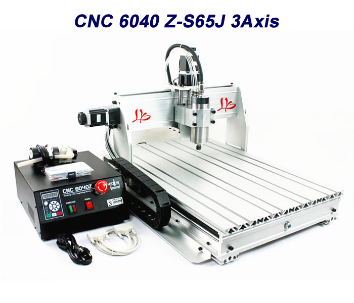 Turning lathe cnc machining 6040 cnc router 6040Z-S65J 3 axis 800W, work for wood Marble metal pcb