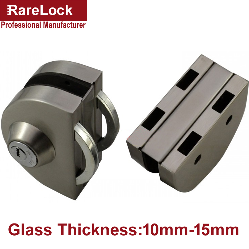 LHX Christmas Supplies Stainless Glass Door Lock for Bathroom Women Dress Shop Door Thickness10-15 DIY Office Hardware a rarelock ms91 baby care window chain lock for glass slinding door bathroom home hardware accessories diy a