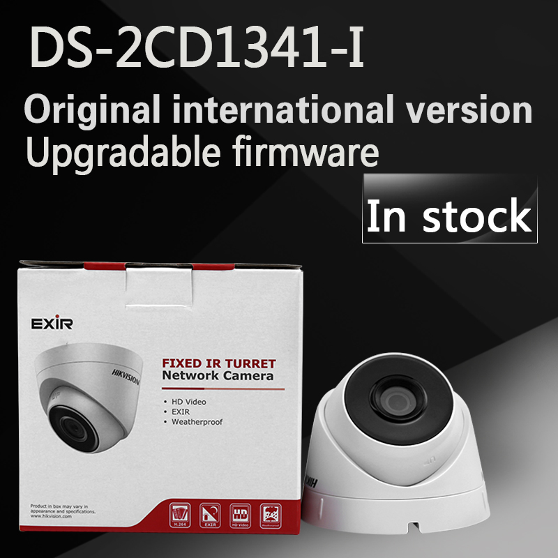 In stock DHL free shipping English version DS-2CD1341-I replace DS-2CD2345-I 4MP CCTV camera POE ip camera hikvision cctv poe 4mp camera ds 2cd3345 i hd night version onvif exir turret wdr dome ip security camera replace ds 2cd2345 i