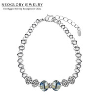 Free Shipping Neoglory MADE WITH SWAROVSKI ELEMENTS Crystal Rhinestone Bracelets Bangles Brand Wholesale For Her Only