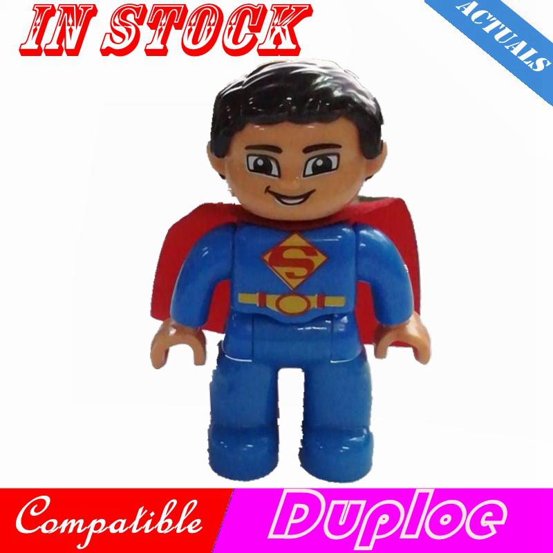 Создатель Duploe DC Justice League Супергерои Супермен фильмы фигурки большой Кирпич Строительные блоки игрушки для детей Legoing Duploe набор