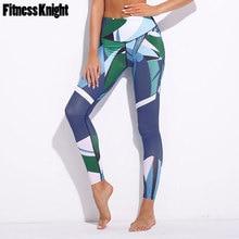 Sport Leggings Women Fitness Yoga Pants Dark Blue Digital Printed Gym Jogging Running Sportswear