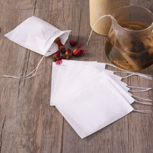 цена на 200pcs Drawstring Teabags Filter Paper Empty Tea Pouch Bags for Loose Leaf Tea Powder Herbs Non-Woven Fabrics Tea Bag