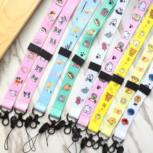 Cartoon Cute Neck Strap Lanyards for keys ID Card Gym Mobile Phone Straps USB badge holder DIY Hang Rope Lariat Lanyard cute cartoon neck strap lanyards for keys id card gym mobile phone straps usb badge holder diy hang rope lariat lanyard