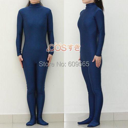 Бесплатная доставка! Новое поступление, костюм унисекс из лайкры и спандекса, темно-синего цвета
