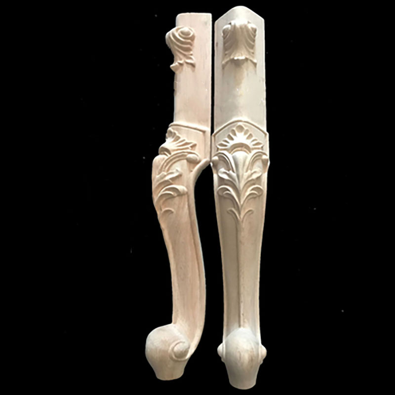 4pcs/lot Solid Wood Furniture Legs European Carved Cabinet Legs Table Legs