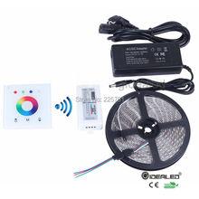 RGB led strip light 12V for RGB5050 300LEDs 5m/10m/15m/20m RGB strip lights+2.4G RF touch panel cotroller+Amplifier+Power