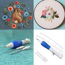 Волшебная ручка для вышивки вышивка иглой инструмент для плетения фантазии 1 xembroidery ручка+ 4 xneedles по доступной цене