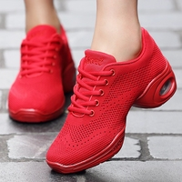 Women Dance Shoes Fabric Mesh Breathable Modern Fitness Square Dance Shoes