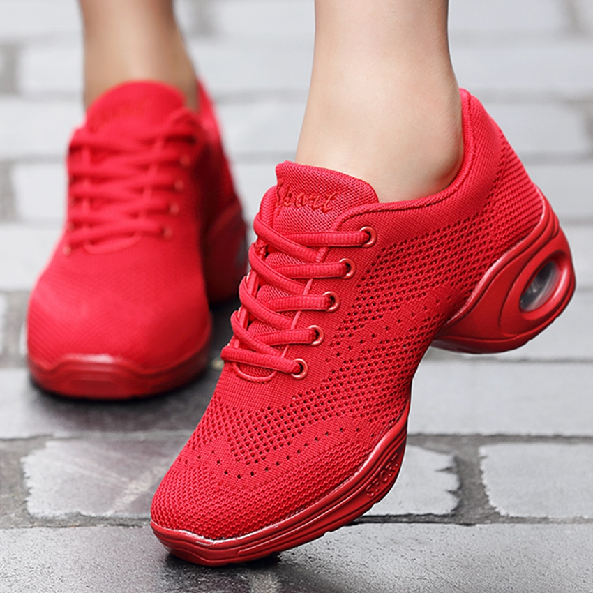 New Modern Women Dance Sneakers Jazz Dance Shoes Mesh Breathable Fitness Shoes