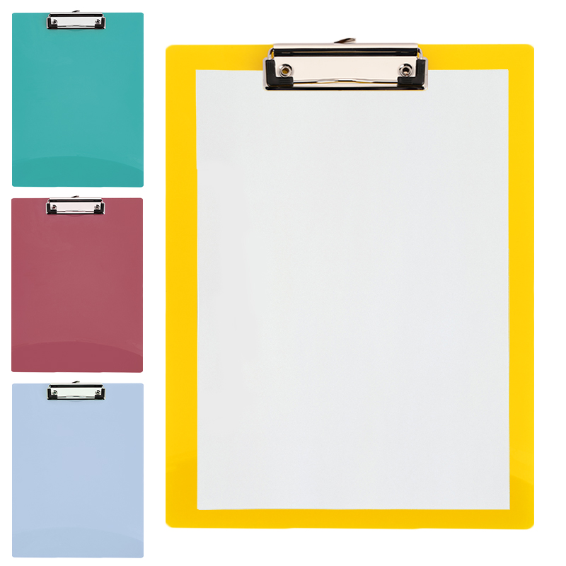 A4 Writing Pad Paper Clip Board Office Clipboard PP Business File Folder Boards Convenient Exam Paper Board Mat