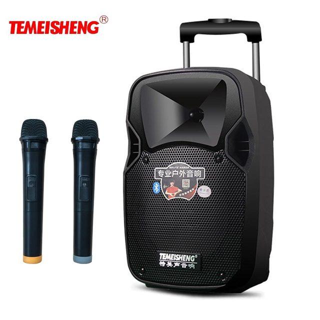 تليكونترول موف 30 واط عالية الطاقة المحمولة مكبر الصوت سمّاعات بلوتوث دعم ميكروفون لاسلكي في الهواء الطلق كاريوكي USB مشغل MP3