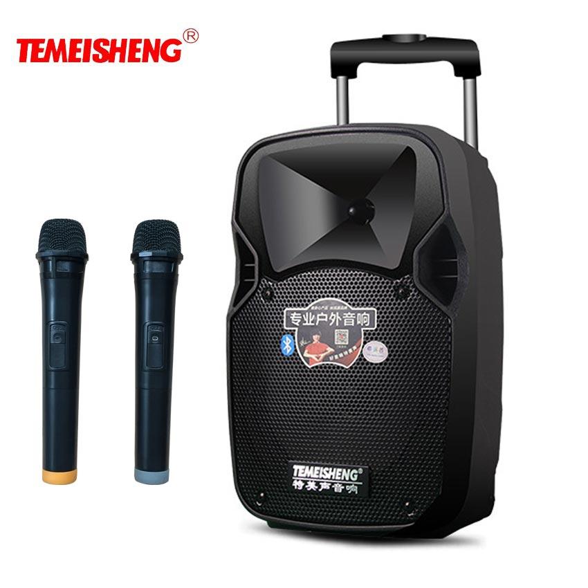 TEMEISHENG levier 30 W haut-parleur Portable haute puissance Bluetooth haut-parleur Support sans fil Microphone haut-parleur extérieur lecteur MP3