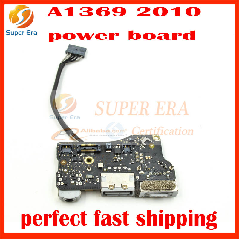 Genuine perfect Used USB DC I/O Jack Audio Power Board 820-2861-A for Apple MacBook Air 13 A1369 Late 2010 MC503 MC504 EMC 2392 i o board usb sd card reader board 820 3071 a 661 6535 for macbook pro retina 15 a1398 emc 2673 mid 2012 early 2013