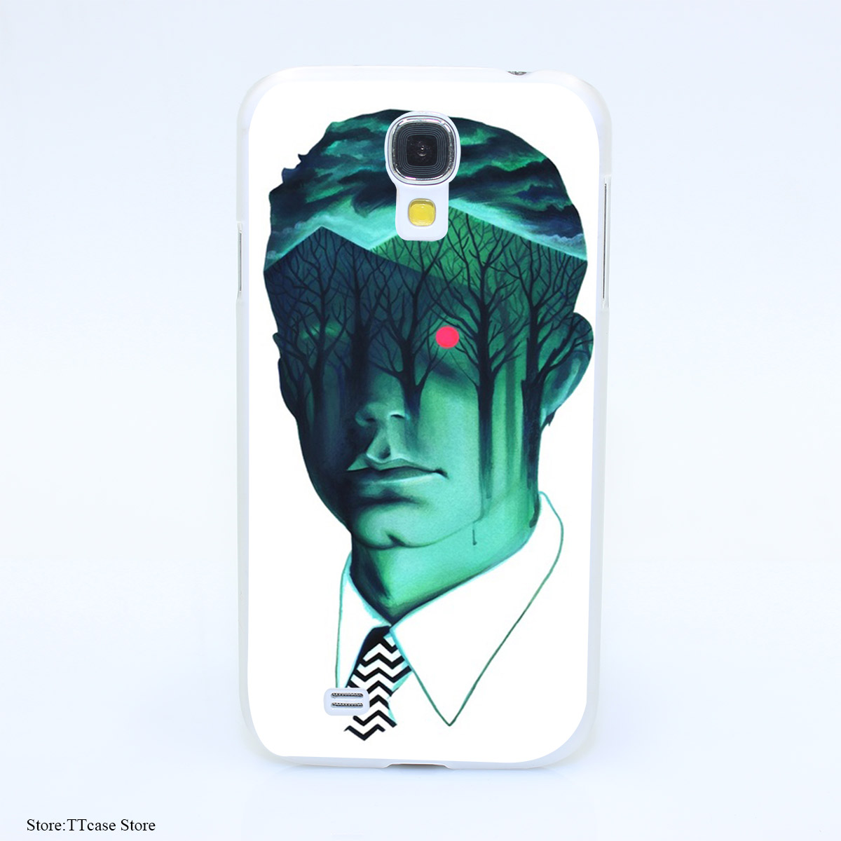 3880CA Twin Peaks Hard Transparent Case Cover for Galaxy S2 S3 S4 S5 & Mini S6 S7 & edge Plus