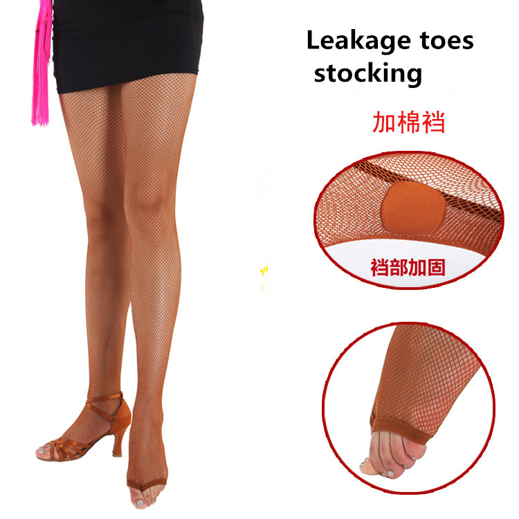 Sexy Stocking Women Latin Dance Network Solid Dance Special Pantyhose Feet Anti-skid Bone Line Tendon Stocking Women