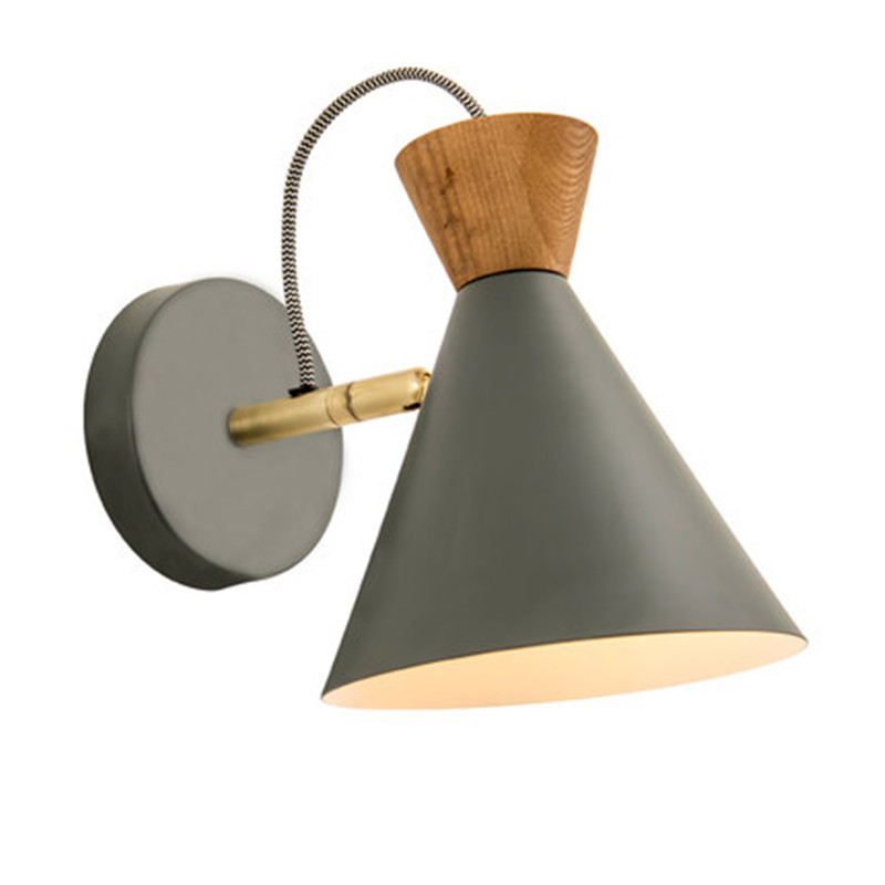 Nordic Loft Style Iron Adjust Wall Sconces Switch Wire Modern LED Wall Light Fixtures Read Bedside