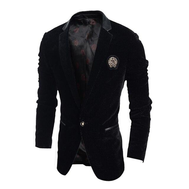 Весна и Осень 2016 новый мужской случайные классический одна кнопка пиджак мужская Мода Slim Fit прилив костюмы пальто куртки