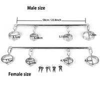 Stainless Steel Hand Ankle Cuffs Spreader Bar BDSM Bondage Device Slave Restraints Handcuffs For Sex Games Toys Metal Products