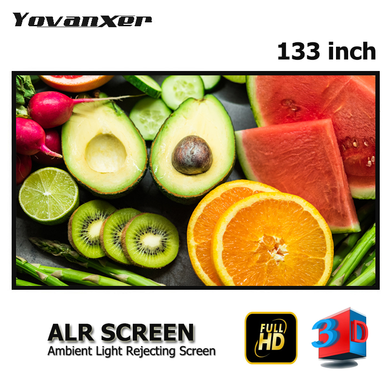 Ambient Light Rejecting ALR Slim Frame Projector Screen 133 Ultra thin border Fixed Frame Anti light