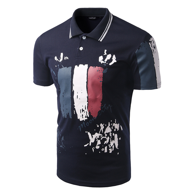 camisa polo masculino Men Fashion Polo Shirt chemise homme Male Casual France Flag Polo high quality clothing men's poloes