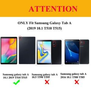 Image 2 - Slim Shell Case Voor Samsung Galaxy Tab Een 10.1 2019 Lichtgewicht Stand Cover Voor Samsung Galaxy Tab Een 10.1 inch T510 T515 Tablet