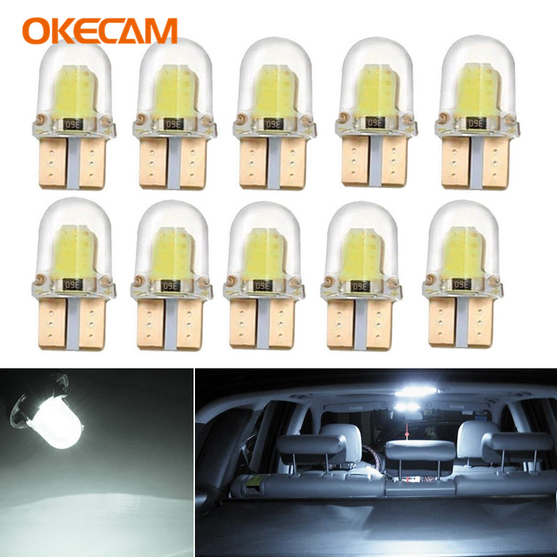10pcs Canbus Car Interior Lights LED T10 W5W 168 Wedge Bulb Parking Light For Ssangong Kyron Actyon Rexton Korando Tivoli Musso image