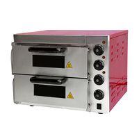 Double electric roasting pink oven household bread baking box pizza shop cake shop ~350 degrees 3000 watts PZ ER2PR