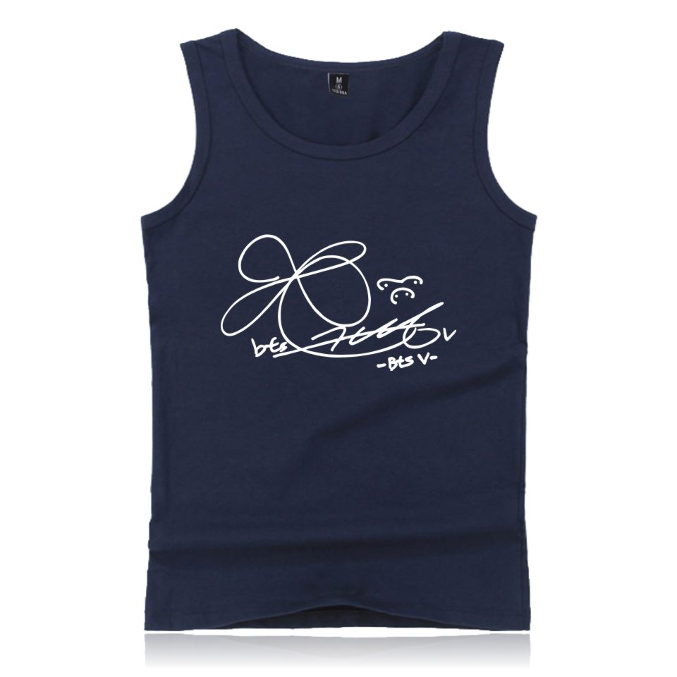 BTS K-Pop   Tank     Top   Love Yourself Men Cotton Fashion Fans Casual Sleeveless Vest XXS To 4XL