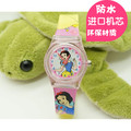 The fashion lovely children snow white rubber wristwatches with car superman kids cartoon gift watches waterproof