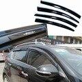 4 pcs Janelas de Ventilação Viseiras Chuva Guarda Sol Escudo Escuro Defletores Para Kia Sportage R