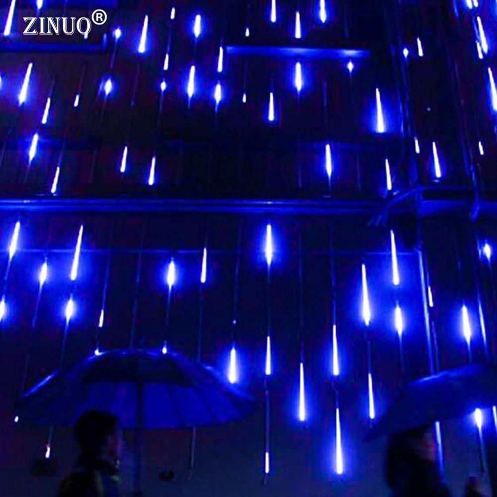 ZINUO 30 cm/50 cm Meteor AC100-240V LED luces de Navidad al aire libre banquete de boda jardín Xmas cuerda luz