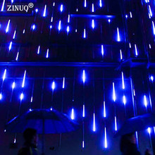 ZINUO 30CM/50CM Meteor Shower Rain Tubes AC100-240V LED Christmas Lights Wedding Party Garden Xmas String Light Indoor/Outdoor