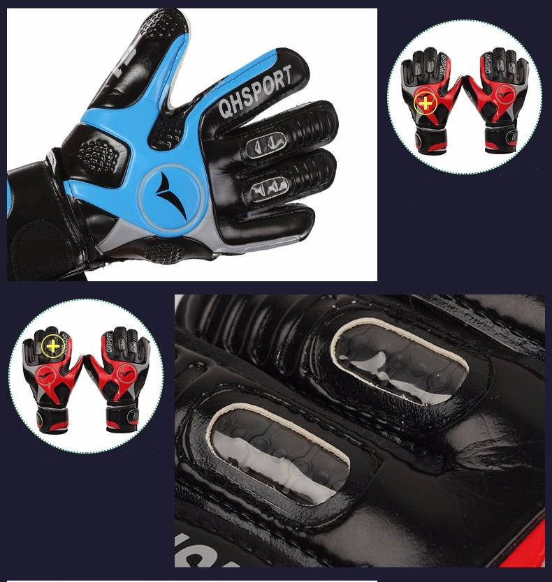 2017 Men Soccer Goalkeeper Gloves Wearable Slip Resistant Football Keeper Latex Goalie Gloves Professional Double Protection 12