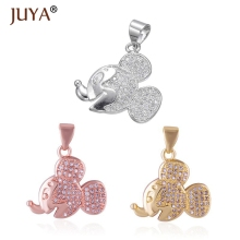 Mickey Charms For Jewelry Making diy fashion Jewellery Accessories Gold Silver Rose Gold Copper Zircon Mouse Pendants Charm цена и фото