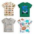 2017new пасхальные майка paw рубашки мальчики полосы тис летние автомобиля детская футболка для мальчиков 3d дети дети футболка продажа дети эльза